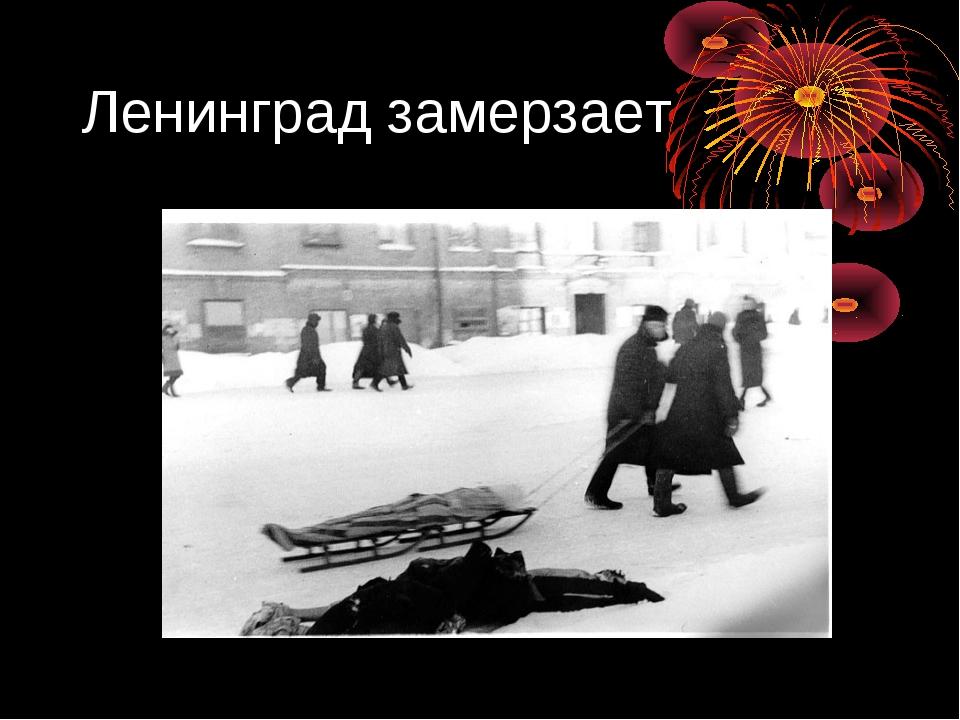 Ленинград замерзает