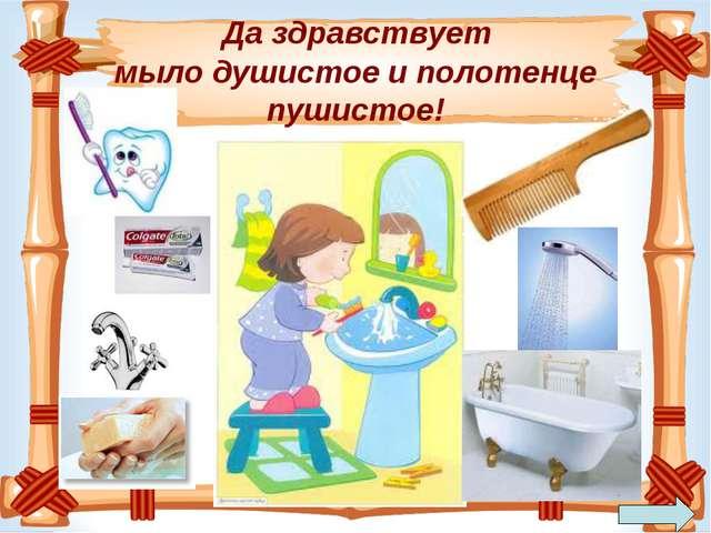 Да здравствует мыло душистое и полотенце пушистое!