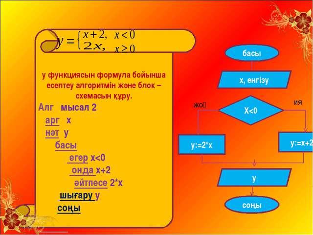 у функциясын формула бойынша есептеу алгоритмін және блок –схемасын құру. Ал...