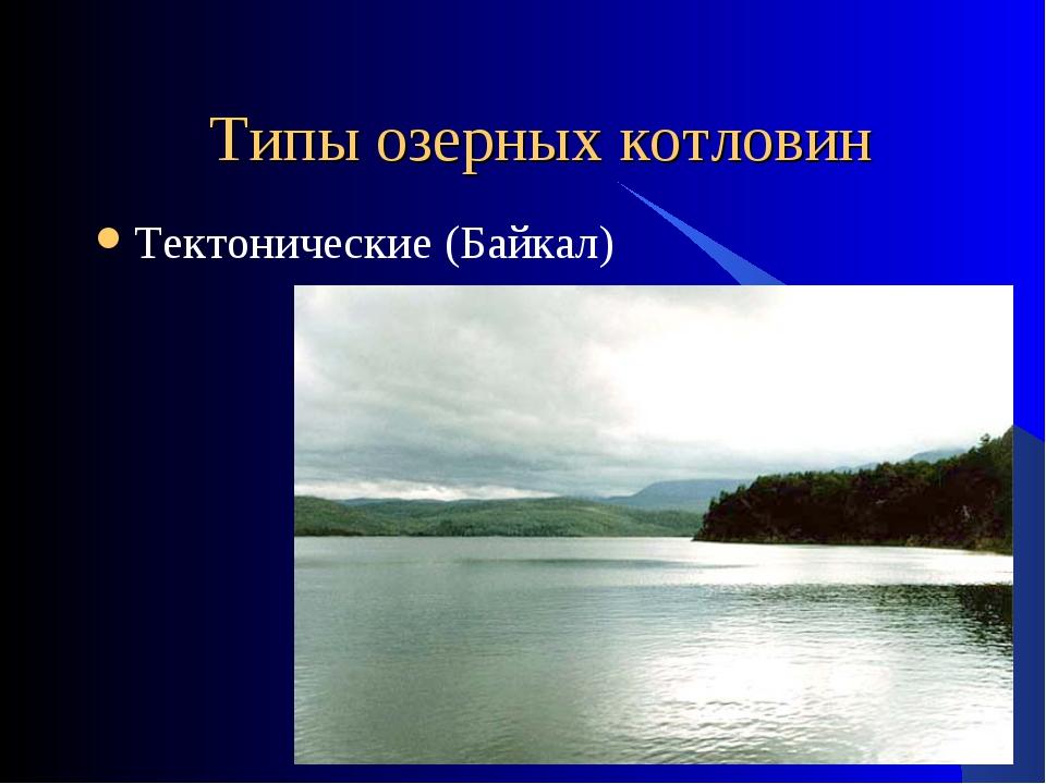 Типы озерных котловин Тектонические (Байкал)