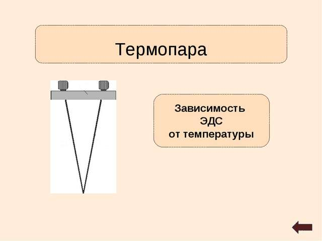 Термопара Зависимость ЭДС от температуры