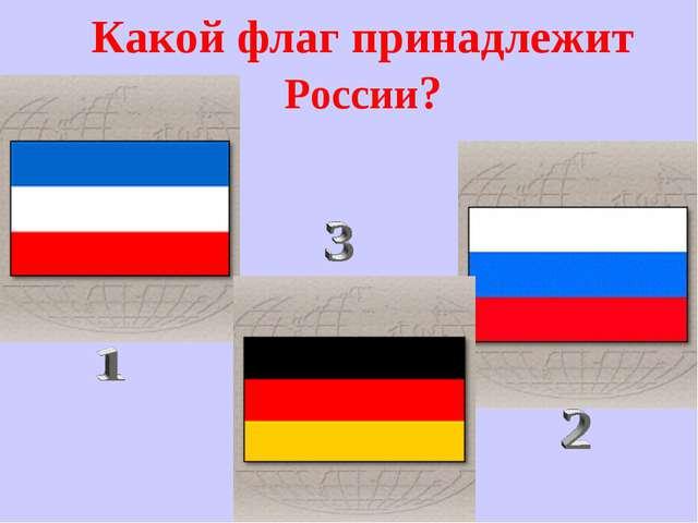 Какой флаг принадлежит России?