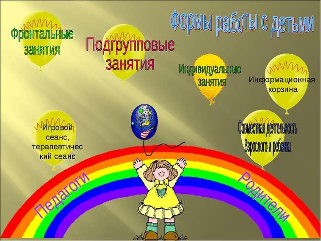 Информационная корзина Игровой сеанс, терапевтический сеанс Игорь - null