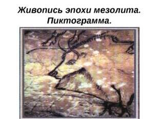 Живопись эпохи мезолита. Пиктограмма.