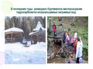 В последние годы разведано Куртяевское месторождение гидрокарбонатно-хлоркаль
