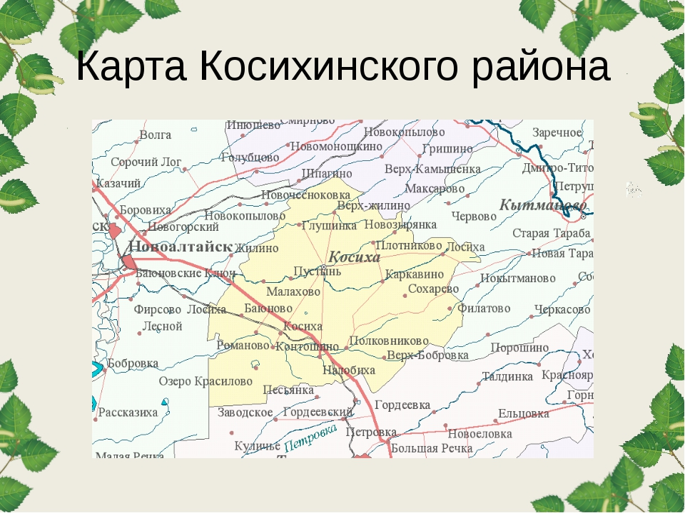 Карта Косихинского района