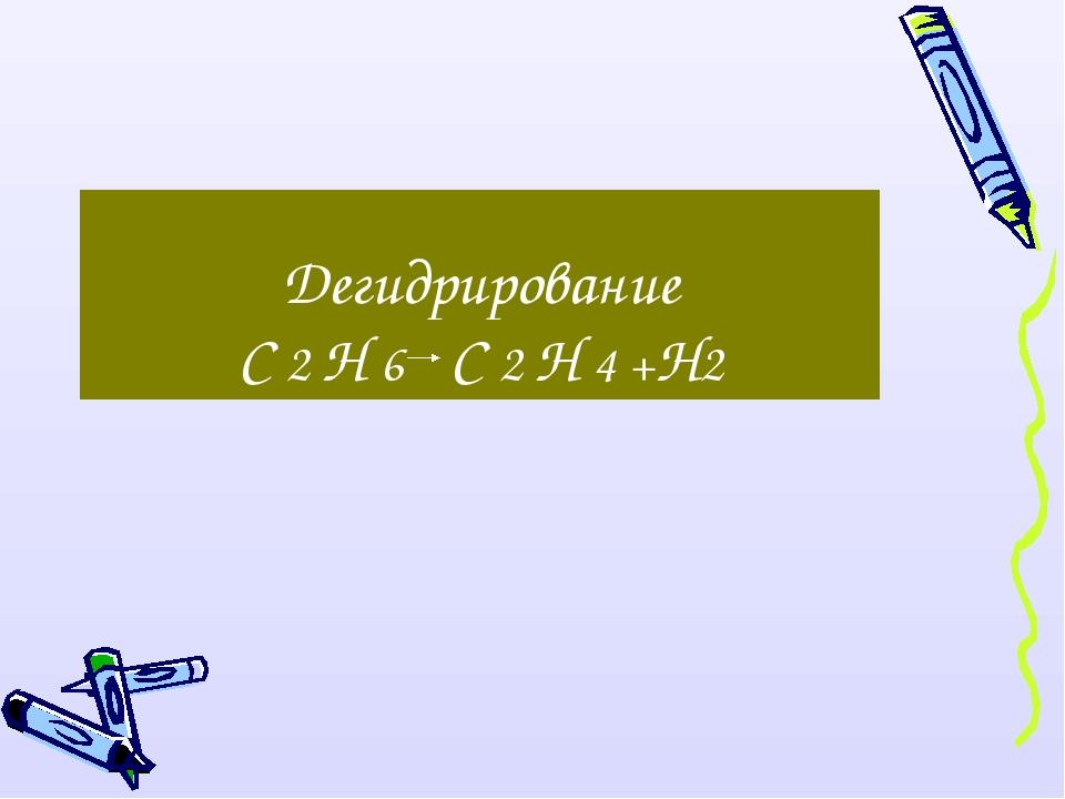 Дегидрирование С 2 Н 6 С 2 Н 4 +Н2