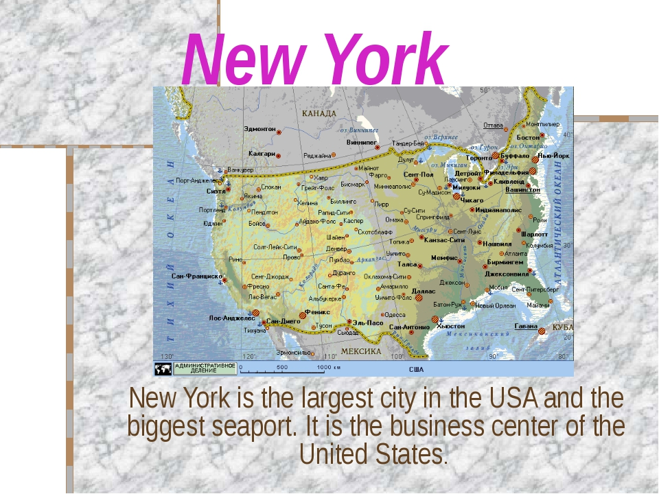 New York New York is the largest city in the USA and the biggest seaport. It...