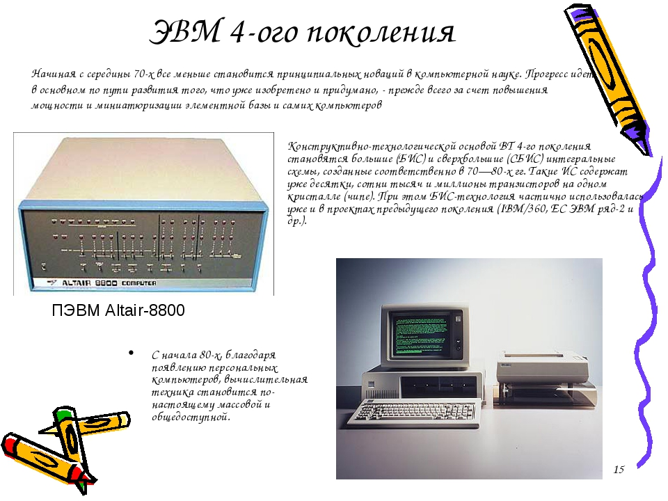 ЭВМ 4-ого поколения Конструктивно-технологической основой ВТ 4-го поколения с...