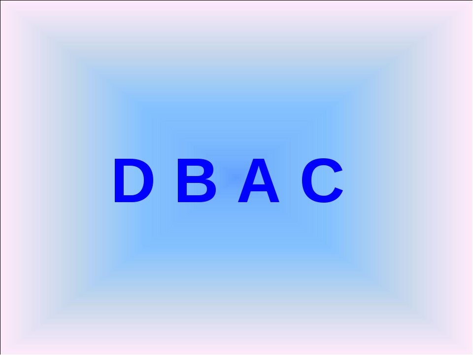 D B A C
