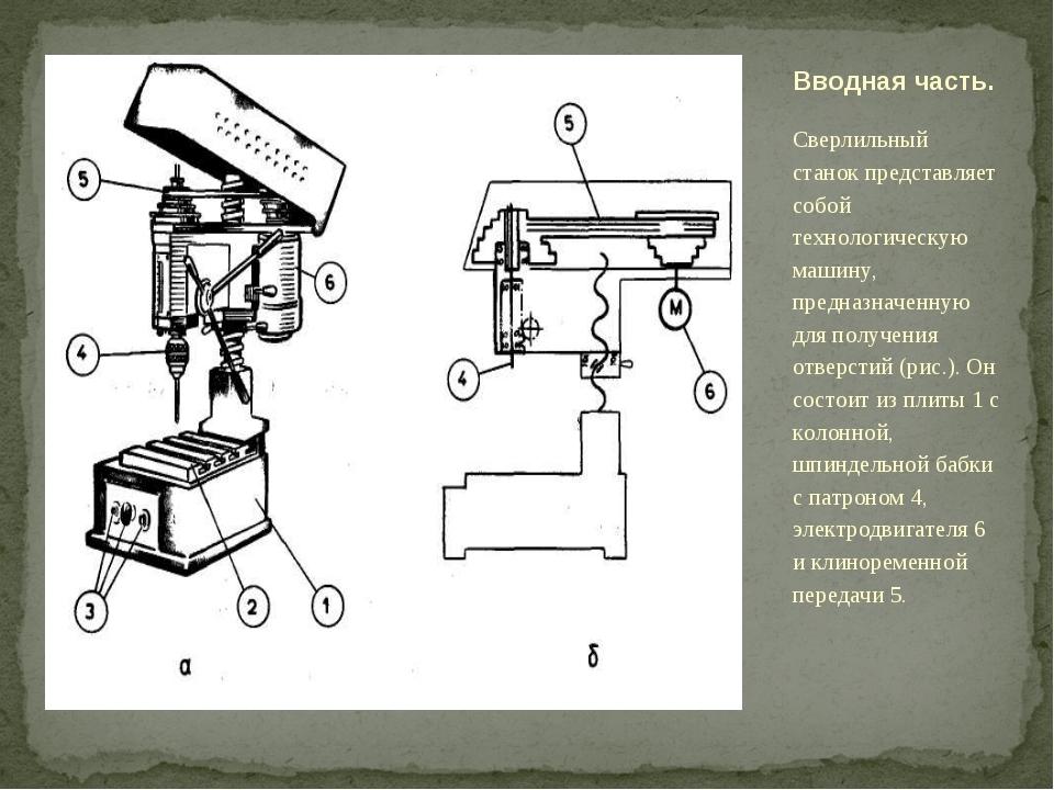 Сверлильный станок представляет собой технологическую машину, предназначенную...