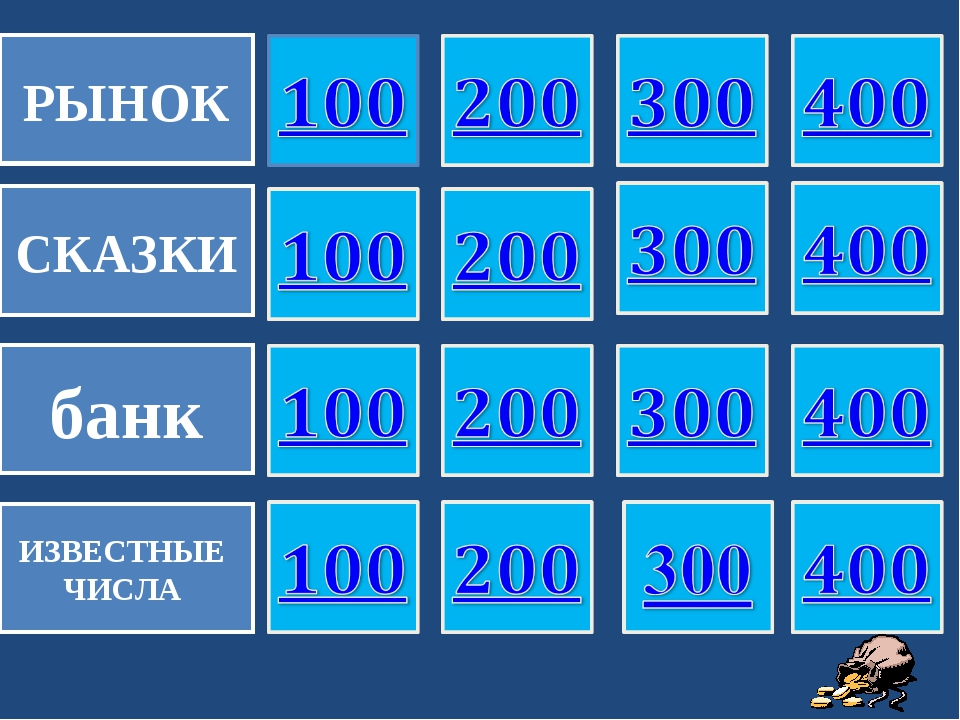 РЫНОК СКАЗКИ банк ИЗВЕСТНЫЕ ЧИСЛА