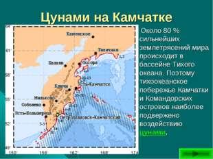 Цунами на Камчатке Около 80 % сильнейших землетрясений мира происходит в басс