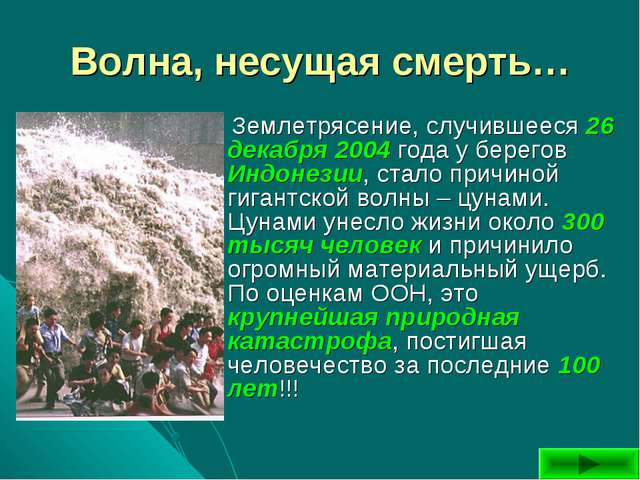Волна, несущая смерть… Землетрясение, случившееся 26 декабря 2004 года у бере...