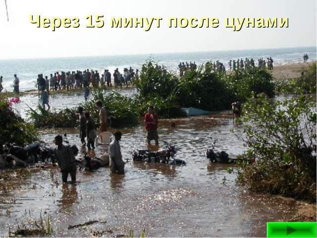 Через 15 минут после цунами