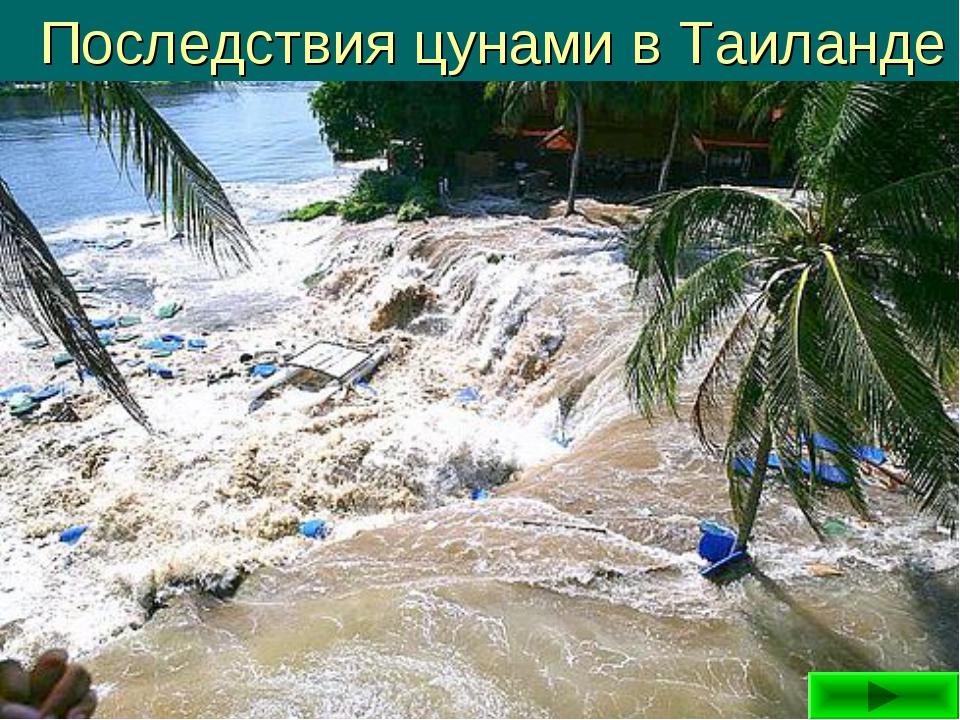 Последствия цунами в Таиланде