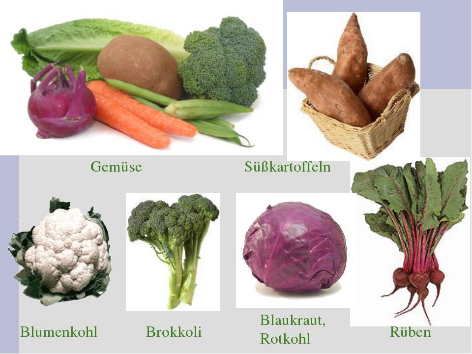 Blumenkohl Blaukraut, Rotkohl Brokkoli Rüben Gemüse Süßkartoffeln
