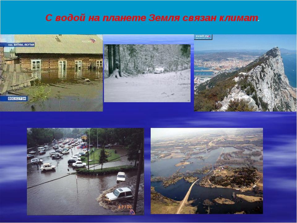 С водой на планете Земля связан климат.