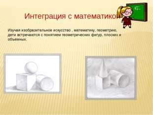 Интеграция с математикой Изучая изобразительное искусство , математику, геоме