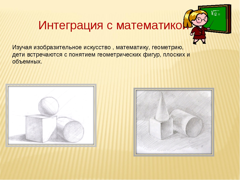 Интеграция с математикой Изучая изобразительное искусство , математику, геоме...