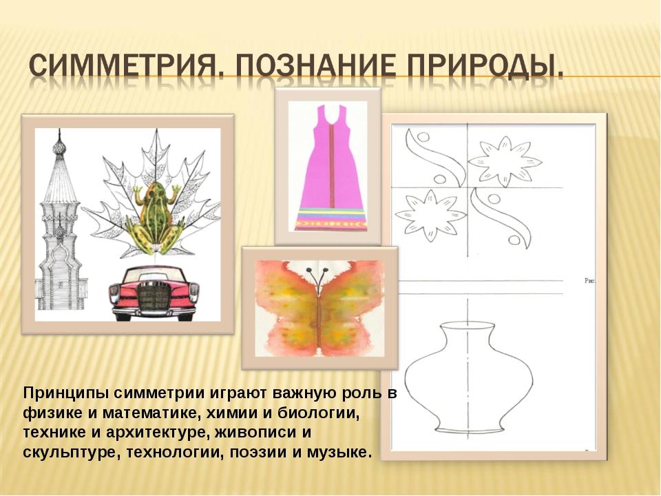 Принципы симметрии играют важную роль в физике и математике, химии и биологии...