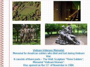 Vietnam Veterans Memorial: Memorial for American solders who died and lost du