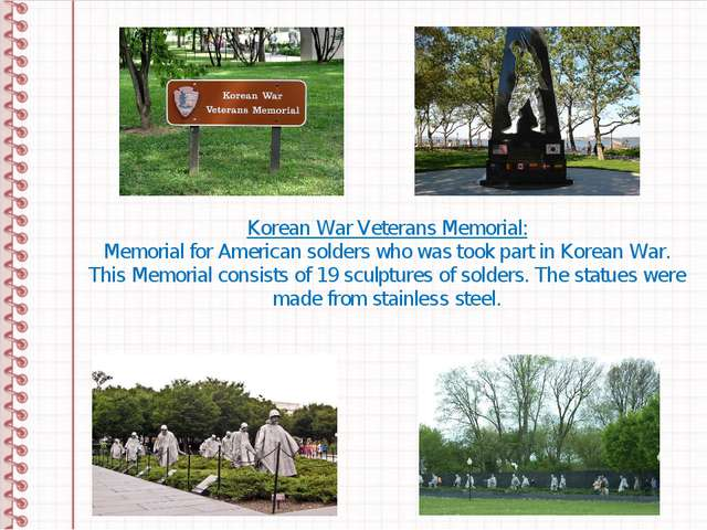 Korean War Veterans Memorial: Memorial for American solders who was took part...