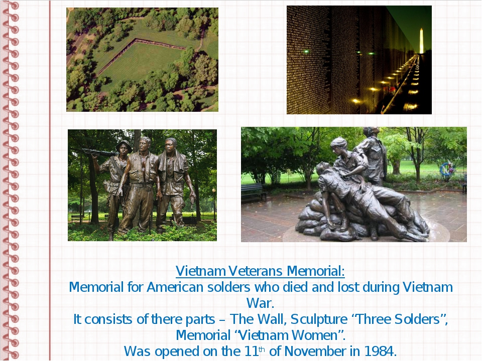 Vietnam Veterans Memorial: Memorial for American solders who died and lost du...