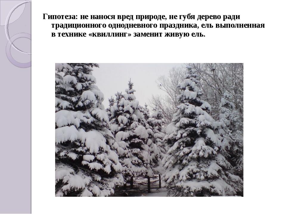 Гипотеза: не нанося вред природе, не губя дерево ради традиционного однодневн...