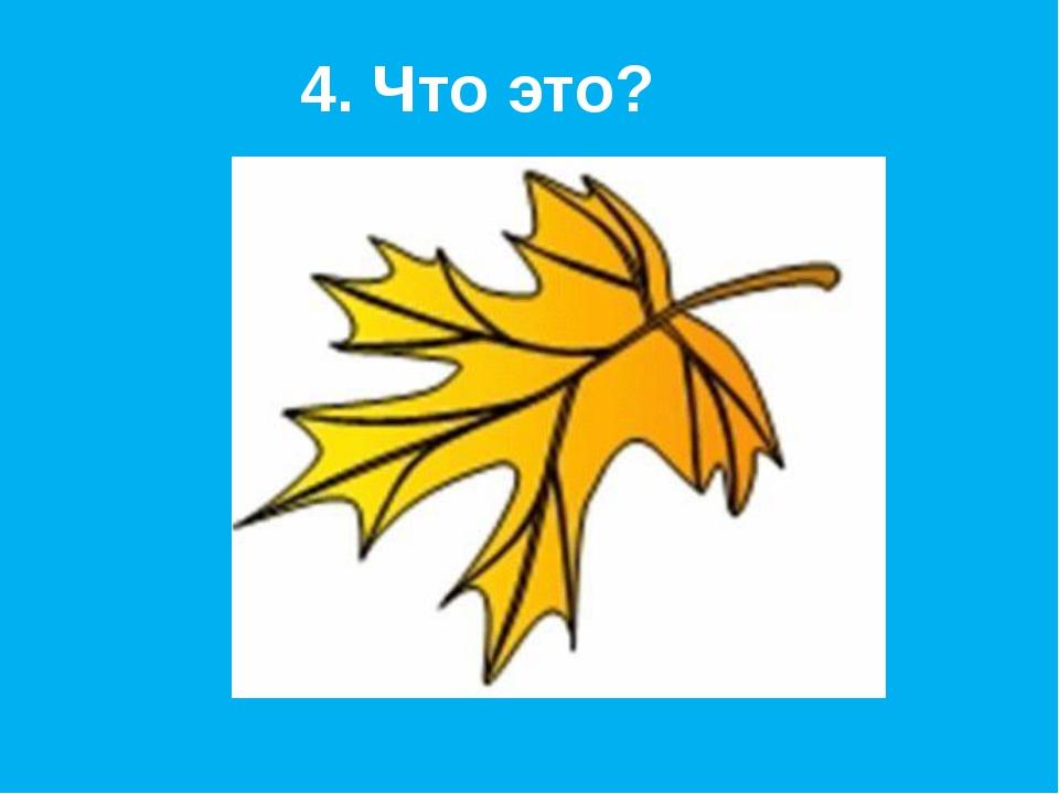 4. Что это?