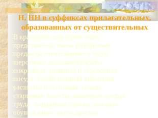 Н, НН в суффиксах прилагательных, образованных от существительных В краеведче