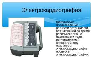 Электрокардиография графическое представление разности потенциалов, возникающ