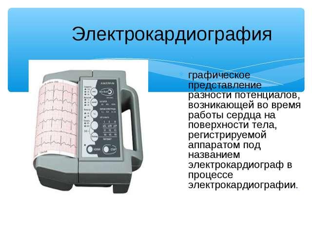 Электрокардиография графическое представление разности потенциалов, возникающ...
