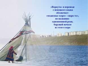 «Воркута» в переводе с ненецкого языка обозначает «медвежье озеро»- «варк-то»