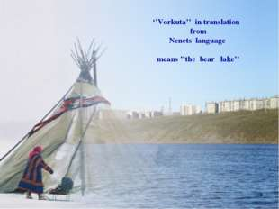 ''Vorkuta'' in translation from Nenets language means ''the bear lake'' *