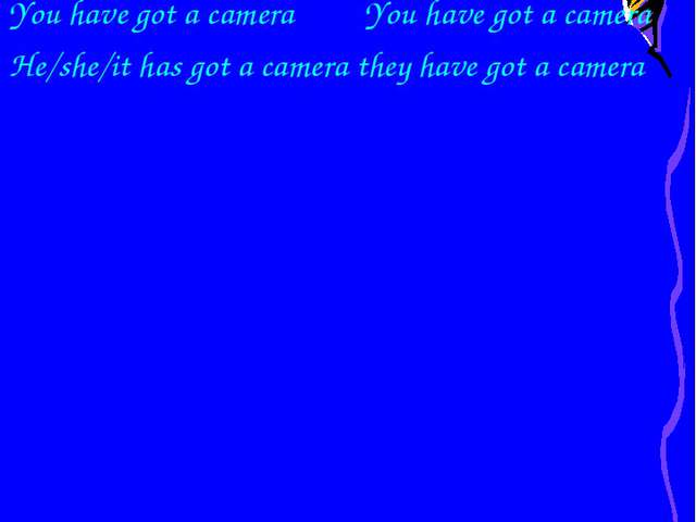 Болымды түрі I have got a camera we have got a camera You have got a camera Y...