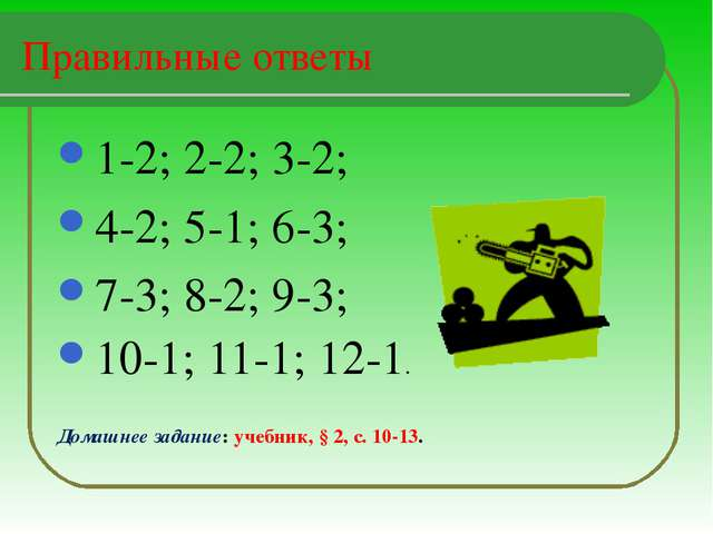 Правильные ответы 1-2; 2-2; 3-2; 4-2; 5-1; 6-3; 7-3; 8-2; 9-3; 10-1; 11-1; 12...