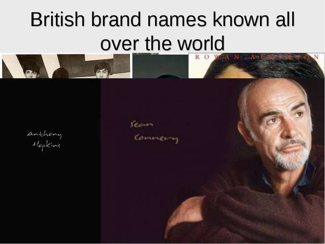 British brand names known all over the world
