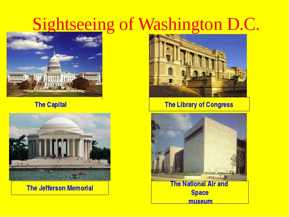 Sightseeing of Washington D.C. The Capital The Library of Congress The Jeffer...