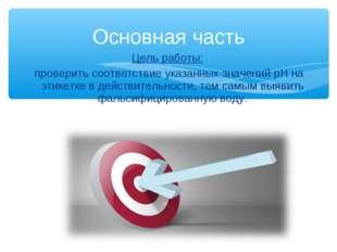 Цель работы: проверить соответствие указанных значений рН на этикетке в дейст