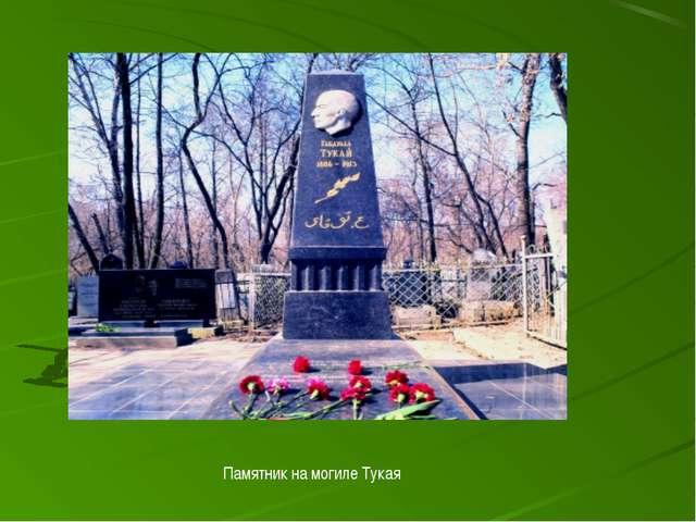 Памятник на могиле Тукая