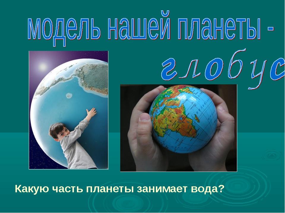 Какую часть планеты занимает вода?