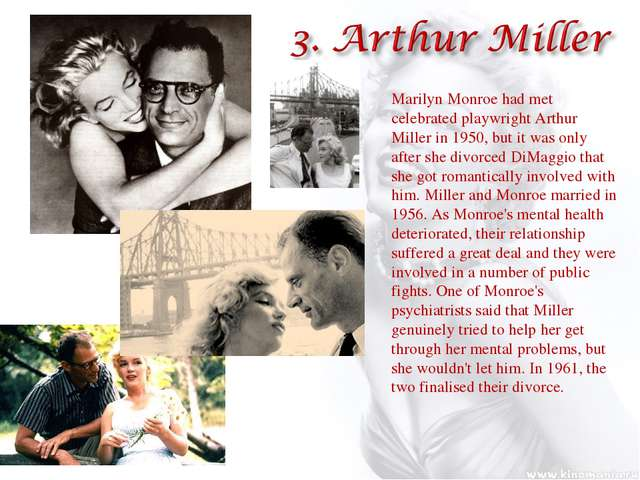 Marilyn Monroe had met celebrated playwright Arthur Miller in 1950, but it wa...