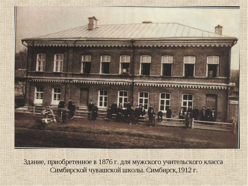 Здание, приобретенное в 1876 г. для мужского учительского класса Симбирской ч...