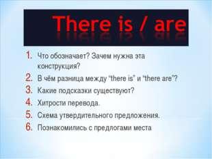 """Что обозначает? Зачем нужна эта конструкция? В чём разница между """"there is"""" и"""