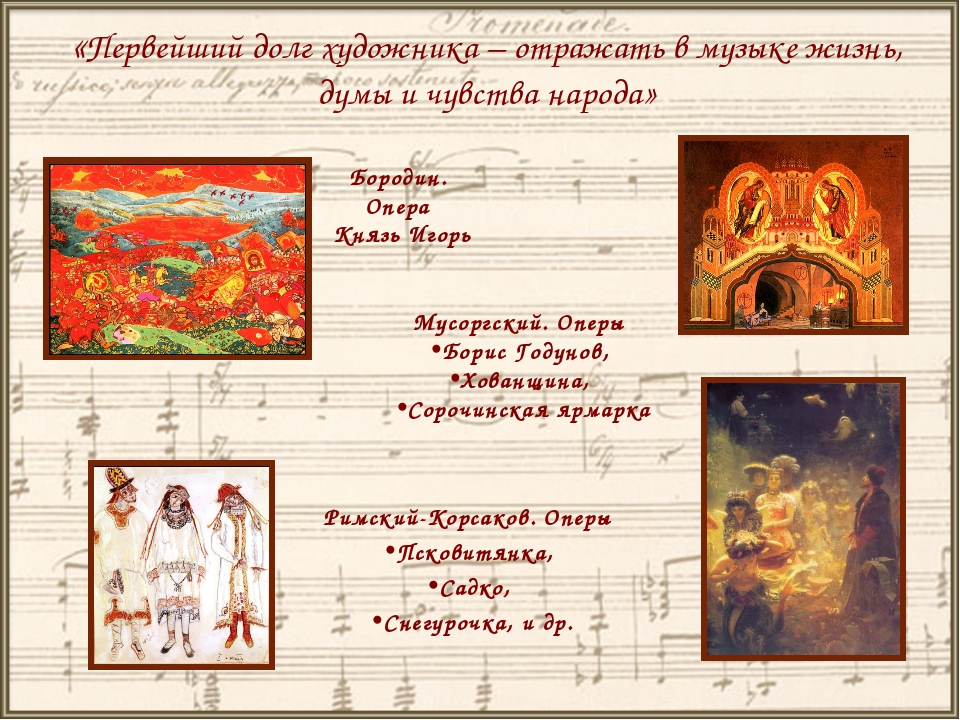 «Первейший долг художника – отражать в музыке жизнь, думы и чувства народа»...
