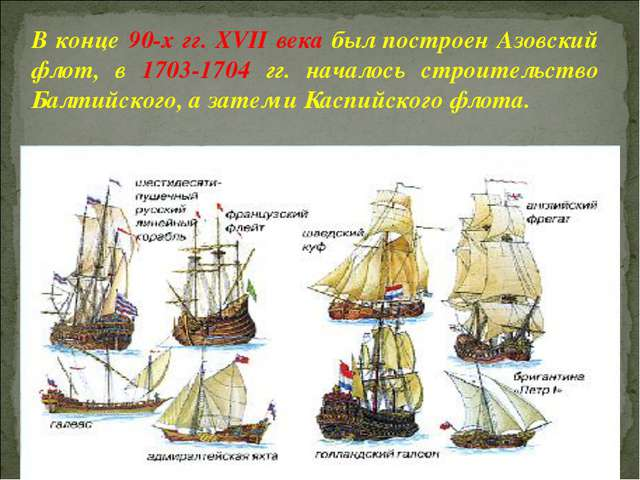 В конце 90-х гг. XVII века был построен Азовский флот, в 1703-1704 гг. начало...