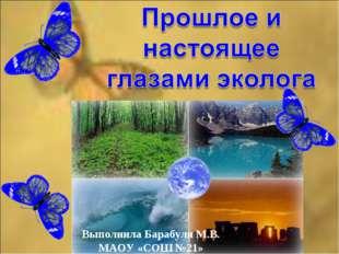 Выполнила Барабуля М.В. МАОУ «СОШ №21»
