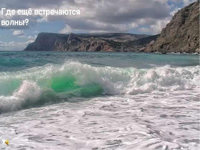 Где ещё встречаются волны?