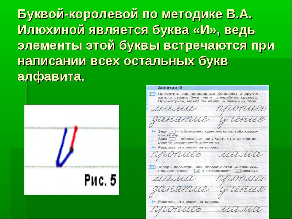 Буквой-королевой по методике В.А. Илюхиной является буква «И», ведь элементы...